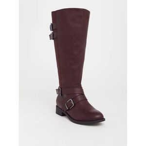 NIB Torrid Wine Buckle Boot Size: 12W (Extra Wide)